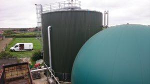 Gårdsanläggning för biogas